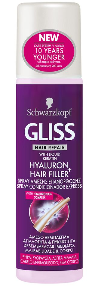 Spray Condicionador Express Gliss Hyaluron + Hair Filler